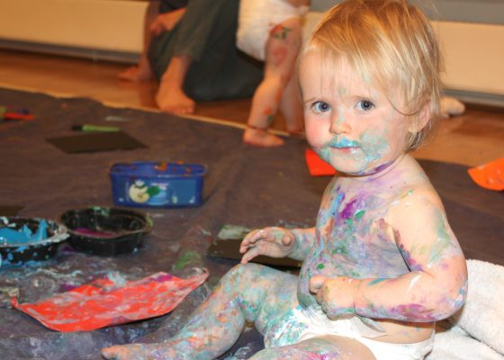 Baby Paint at Falmouth Art Gallery