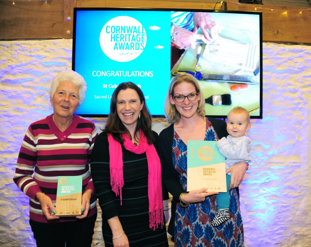 A photograph of St Cubert Church with their Audience Initiative Award.