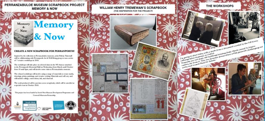 Images from Perranzabuloe Museum's Memory and Now Scrapbook project.