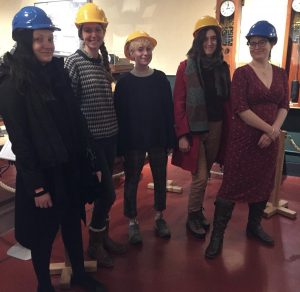 L-R: Lizzy Broughton, Rachel Haddy, Sarah Waite, Katie Sawyer and Sian Powell - Trainee Curators 2020