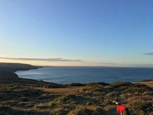 A beautiful sunrise photograph over a Cornish seascape.