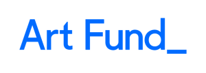 A logo of blue text on a white background: 'Art Fund_'